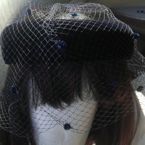 Accessories - Girls Vintage Halo Hat with veil
